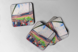 old trafford Coaster set of four
